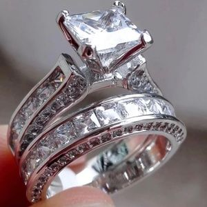 925 STERLING SILVER STAMPED WEDDING RING